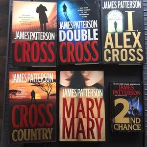 6 James Patterson books